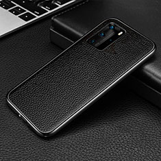 Funda Lujo Marco de Aluminio Carcasa T04 para Huawei P40 Pro Negro