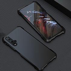 Funda Lujo Marco de Aluminio Carcasa T05 para Huawei Nova 5T Negro