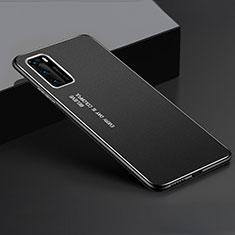 Funda Lujo Marco de Aluminio Carcasa T05 para Huawei P40 Negro