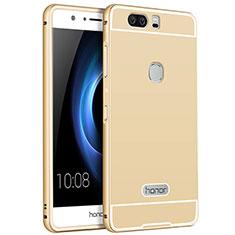Funda Lujo Marco de Aluminio para Huawei Honor V8 Oro
