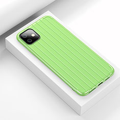 Funda Silicona Carcasa Goma Line C01 para Apple iPhone 11 Verde