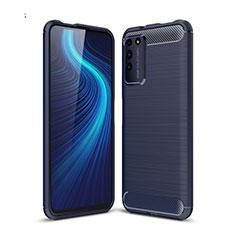 Funda Silicona Carcasa Goma Line C01 para Huawei Honor X10 5G Azul
