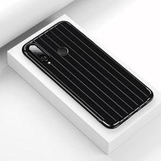 Funda Silicona Carcasa Goma Line C01 para Huawei P30 Lite Negro