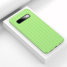 Funda Silicona Carcasa Goma Line C01 para Samsung Galaxy S10 Verde