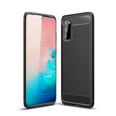 Funda Silicona Carcasa Goma Line C01 para Samsung Galaxy S20 5G Negro
