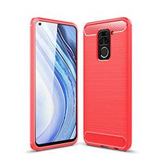 Funda Silicona Carcasa Goma Line C01 para Xiaomi Redmi 10X 4G Rojo