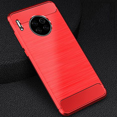 Funda Silicona Carcasa Goma Line C02 para Huawei Mate 30 Rojo