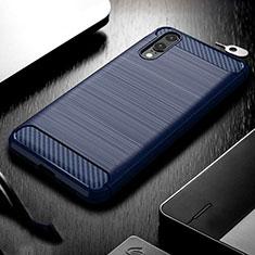 Funda Silicona Carcasa Goma Line C02 para Huawei P20 Azul