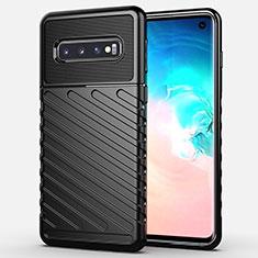 Funda Silicona Carcasa Goma Line C02 para Samsung Galaxy S10 Negro