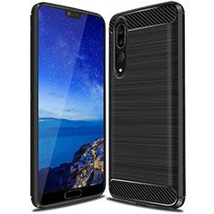 Funda Silicona Carcasa Goma Line C03 para Huawei P20 Pro Negro