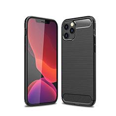 Funda Silicona Carcasa Goma Line para Apple iPhone 12 Max Negro