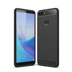 Funda Silicona Carcasa Goma Line para Huawei Enjoy 8 Plus Negro