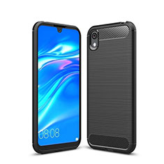 Funda Silicona Carcasa Goma Line para Huawei Enjoy 8S Negro