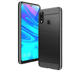 Funda Silicona Carcasa Goma Line para Huawei Enjoy 9 Negro