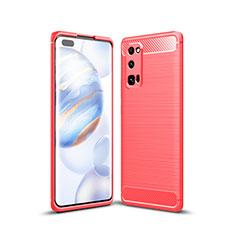 Funda Silicona Carcasa Goma Line para Huawei Honor 30 Pro+ Plus Rojo