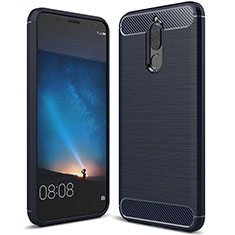 Funda Silicona Carcasa Goma Line para Huawei Mate 10 Lite Azul