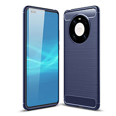 Funda Silicona Carcasa Goma Line para Huawei Mate 40 Pro Azul