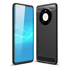 Funda Silicona Carcasa Goma Line para Huawei Mate 40 Pro Negro