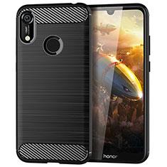 Funda Silicona Carcasa Goma Line para Huawei Y6 Prime (2019) Negro
