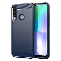 Funda Silicona Carcasa Goma Line para Huawei Y6p Azul