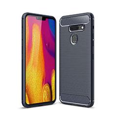 Funda Silicona Carcasa Goma Line para LG G8 ThinQ Azul