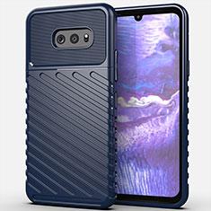 Funda Silicona Carcasa Goma Line para LG G8X ThinQ Azul