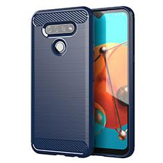 Funda Silicona Carcasa Goma Line para LG K51 Azul