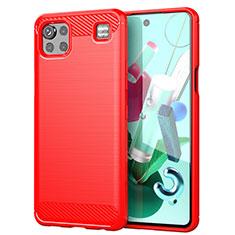 Funda Silicona Carcasa Goma Line para LG K92 5G Rojo