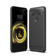 Funda Silicona Carcasa Goma Line para LG V50 ThinQ 5G Negro