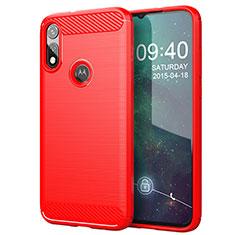 Funda Silicona Carcasa Goma Line para Motorola Moto E (2020) Rojo