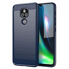 Funda Silicona Carcasa Goma Line para Motorola Moto E7 Plus Azul