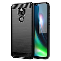 Funda Silicona Carcasa Goma Line para Motorola Moto E7 Plus Negro