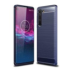 Funda Silicona Carcasa Goma Line para Motorola Moto Edge Azul