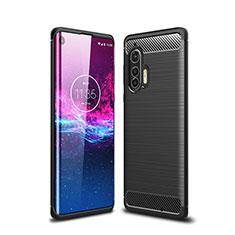 Funda Silicona Carcasa Goma Line para Motorola Moto Edge Plus Negro
