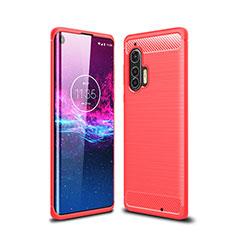 Funda Silicona Carcasa Goma Line para Motorola Moto Edge Plus Rojo