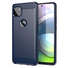 Funda Silicona Carcasa Goma Line para Motorola Moto G 5G Azul