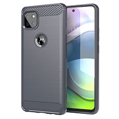 Funda Silicona Carcasa Goma Line para Motorola Moto G 5G Gris