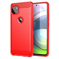 Funda Silicona Carcasa Goma Line para Motorola Moto G 5G Rojo