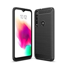 Funda Silicona Carcasa Goma Line para Motorola Moto G8 Play Negro