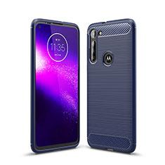 Funda Silicona Carcasa Goma Line para Motorola Moto G8 Power Azul