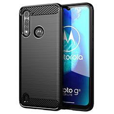 Funda Silicona Carcasa Goma Line para Motorola Moto G8 Power Lite Negro