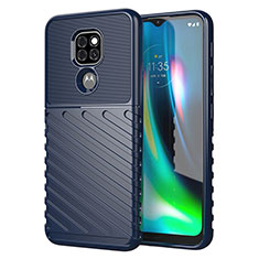 Funda Silicona Carcasa Goma Line para Motorola Moto G9 Azul