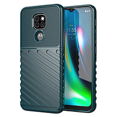 Funda Silicona Carcasa Goma Line para Motorola Moto G9 Play Verde