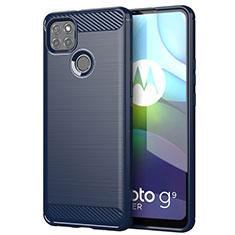 Funda Silicona Carcasa Goma Line para Motorola Moto G9 Power Azul