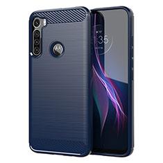 Funda Silicona Carcasa Goma Line para Motorola Moto One Fusion Plus Azul
