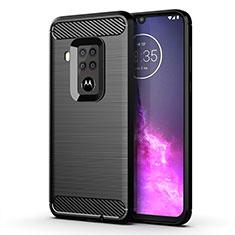 Funda Silicona Carcasa Goma Line para Motorola Moto One Zoom Negro