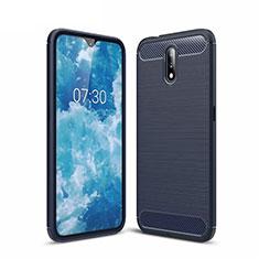 Funda Silicona Carcasa Goma Line para Nokia 2.3 Azul