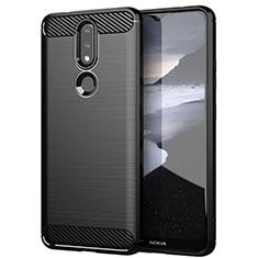 Funda Silicona Carcasa Goma Line para Nokia 2.4 Negro