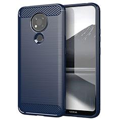 Funda Silicona Carcasa Goma Line para Nokia 3.4 Azul