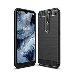 Funda Silicona Carcasa Goma Line para Nokia 4.2 Negro